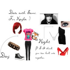 """Date with sami callihan (for kayla)"" by ittybittykittyy on Polyvore"