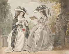Lady Salesbury, active 1791, British, The Misses Van and Lady Salisbury, 1791, Watercolor over graphite on medium, cream, sligthly textured wove paper, Yale Center for British Art, Paul Mellon Collection