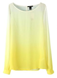 Yellow Ombre Blouse