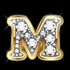 M gold and diamond bling photo
