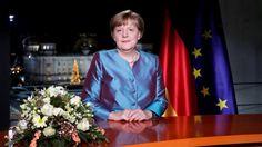 Angela Merkel bei ihrer Neujahrsansprache