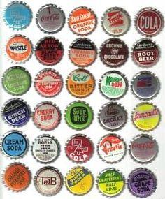 Random vintage bottle caps for my DIY kitchen back splash.