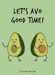 Cute Avocado Illustration|Pinterest: @theculturetrip