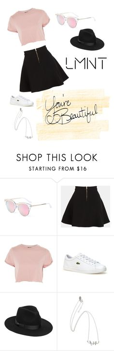 """""""LMNT Sunglasses"""" by manniegk ❤ liked on Polyvore featuring LMNT, Parker, Topshop, Lacoste and Lack of Color"""