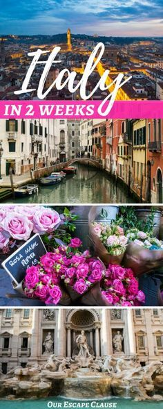 The perfect 2 weeks in Italy itinerary for first time visitors looking for a classic schedule: here's what to do and how to see Rome, Florence, Tuscany, Cinque Terre & Venice in 2 weeks! #italy #travel #itinerary