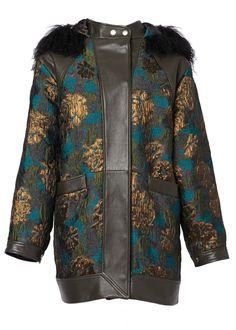 Ornate Brocade Parka With Fur Hood - Coats & Jackets - Matthew Williamson