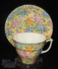 Sampson Smith Old Royal Floral Chintz Antique Tea Cup