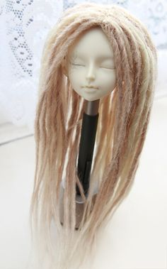 Blonde Mix Dreadlock wig on Etsy, omg I must have this! Im so into dreads, but too scared to do my own hair ..