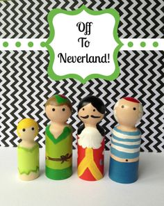 Peter Pan Wooden Peg Doll Collection by HaleyMorganCanCraft, $20.00