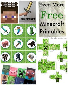 Minecraft worlds kids can create with limitless imagination. Minecraft printable and more. Minecraft Mods, Minecraft Crafts, Free Minecraft Printables, Minecraft Stuff, Free Printables, Minecraft Skins, Minecraft Buildings, Party Printables, Minecraft Classroom