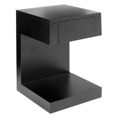 Good Good Small Bedside Table   Dwell   Seattle Bedside Table With Drawer Dark  Oak
