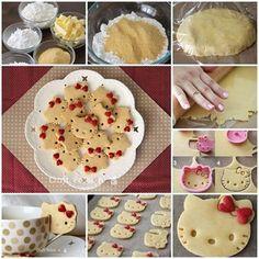 DIY Make Hello Kitty Cookies