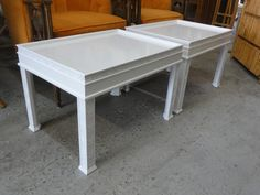 Lacquered Fretwork Tables / Benches