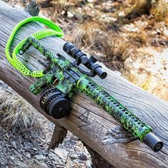 Great shot from AZPhotoMan of some CerakoteMADness....  The Toxic rifle with amazing Cerakote work by the master of Cerakote MAD Custom Coating and that zombie green sling from Fox Den Tactical make for a great combo. www.madcustomcoating.com  X Products KE Arms Midwest Industries, Inc. Trijicon, Inc. Dahmer Arms Fathom Arms Battle Arms Development Black Hole Weaponry