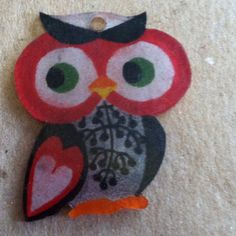 Owl shrinky dink charm
