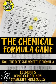 Engage your GCSE students with this fun activity testing and improving their understanding of writing chemical formula of ionic and covalent chemicals. This activity can be used as an end of lesson or revision aid and lasts minutes. Chemistry Classroom, High School Chemistry, Chemistry Lessons, Teaching Chemistry, Chemistry Experiments, Science Chemistry, Middle School Science, Physical Science, Science Lessons
