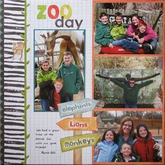 DCWV Alpha Zoo #scrapbook #Layout