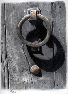 Knock Knock by pussycat on deviantART   COLORED PENCIL