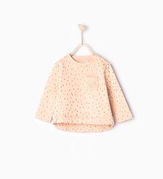 Image 1 of Guipure lace sweatshirt from Zara