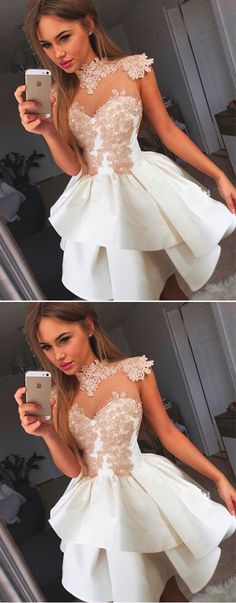Princess Ball Gown Wrapped Chest Homecoming Dress,Sleeveless Appliques Satin Short Prom Dress HCD81Short Prom Dresses,Homecoming Dresses,Prom Gowns,Party Dresses,Graduation Dresses,Short Prom Dresses,Gowns Prom,Cheap Prom Gowns on Line