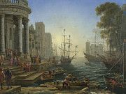 """New artwork for sale! - """" Seaport With The Embarkation Of Saint Ursula by Claude """" - http://ift.tt/2npuleo"""