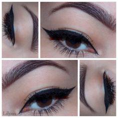 Utilisez le perfect eyeliner 01 pour un regard allongé ! #beauty #eyeliner #black #eyes #AKACosmetics #LILYOX