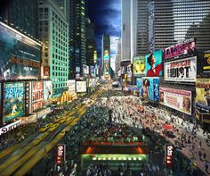 "Stephen Wilkes' Time Square from the series ""Day to Night,"" blending hundreds of photographs taken over the course of a day at various locations."