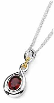 S sterling silver and 14k yellow gold emerald cut created ruby s sterling silver and 14k yellow gold emerald cut created ruby pendant necklace yournewstyles jewelry jewellery mozeypictures Image collections