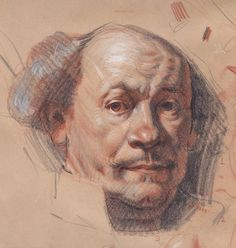 Trois Crayons, Rembrandt Portrait, Portraits, People Art, Viera, Colored Pencils, Nude, Google Search, Ikon