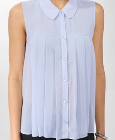 Sheer Box Pleated Shirt | FOREVER21 - 2000046254