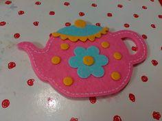 Cute pink felt teapot safety mirror, pocket, handbag mirror, princess party bag mothers day, tea party, mad hatter, acrylic mirror, tea cup by VintageBlingAndBags on Etsy