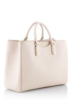Hugo Boss Leather shopper 'Malia'