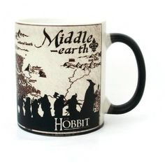 Color Changing Mug Middle Earth, Lord Of The Rings Mug, Hobbit Mug,... ($16) ❤ liked on Polyvore featuring home, kitchen & dining, drinkware, ceramic tea cups, ceramic coffee mugs, ceramic mugs, colored drinkware and colored coffee mugs