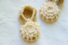 Simply Summer Sandals Baby Booties Crochet Pattern
