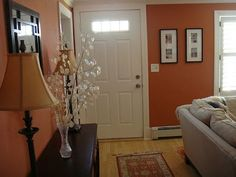 Creating An Entry | Bungalow Home Staging & Redesign Narrow walk through.. too narrow?