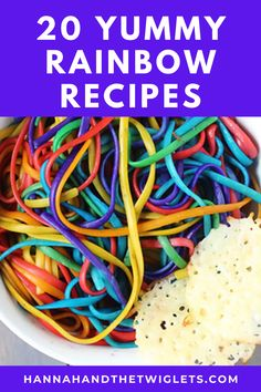 It's super easy to find recipes for rainbow sweet treats. But what about savoury food? Here are 20 gorgeous rainbow savoury recipes! #hannahandthetwiglets #savouryrecipes #rainbowrecipes #rainbowfood #recipeideas #colourfulcooking Easy Family Meals, Kids Meals, Easy Meals, Cake Shop London, Rainbow Food, Baking With Kids, Vegan Restaurants, Savoury Recipes, Fun Cooking