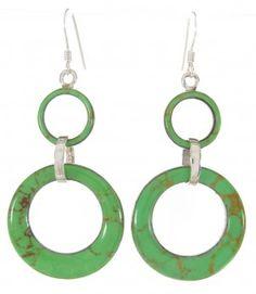 Southwest Jewelry | Gaspeite Jewelry | Sterling Silver Earrings | Hook Earrings