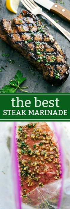 The BEST EVER Grilled Steak Marinade plus tips for grilling the best steak ever! I via chelseasmessyapron.com
