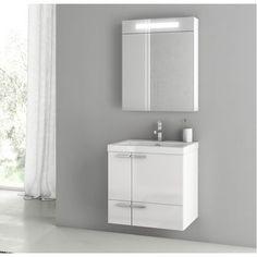 """ACF Bathroom Vanities New Space 23"""" Single Bathroom Vanity Set"""