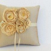 Gold ring pillow