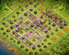 Best Farming Base Links** that can defend against queen Valk and Charge. Attacks Defended and Tones of Gold, Dark and Elixir saved. Clsh Of Clans, Archer Queen, Clan Castle, Trophy Base, Clash Of Clans Game, Barbarian King, Giant Bomb, Geek Stuff, Farming