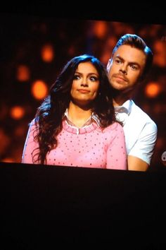 Derek Hough & partner, Bethany Mota await week-1 results - Dancing With the Stars - Season 19 - week 1 - 9-15-2014
