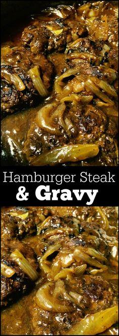 Hamburger Steak & Gravy | Aunt Bee's Recipes