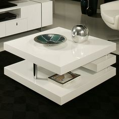 The viceroy coffee table, with its very modern and unique design, will add style and elegance to your living area. This by rectangular coffee table comes in glossy white wood with chrome design. Cool Coffee Tables, Coffe Table, Coffee Table With Storage, Coffee Table Design, Modern Coffee Tables, Pastel Furniture, Furniture Design, Table Furniture, Office Furniture