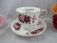1960s Vintage English Queen Anne Bone China Pink by SecondWindShop, $25.00