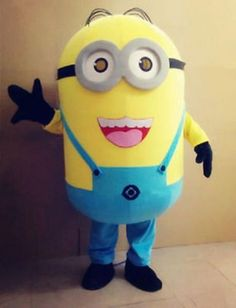2017 New Minions Despicable Me Mascot Costume EPE Fancy Dress Outfit Adult 05