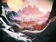 Wall Mural perfect dawn - 3d - alien - cold • PIXERSIZE.com