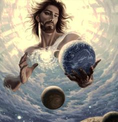 How could Jesus be a created being? - The Watchman's Post Jesus Christ Painting, Jesus Artwork, Church Pictures, Bible Pictures, Angel Pictures, Christian Paintings, Christian Art, Jesus Drawings, Pictures Of Jesus Christ
