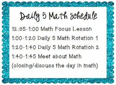 So cool! I love the idea of a daily rotation of math