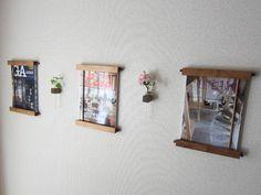 作房和樂(サボウワラク) の 棚 木の壁掛けマガジンラック&一輪挿し